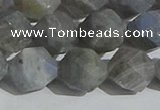 CLB999 15.5 inches 12mm faceted nuggets matte labradorite beads