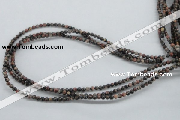 CLD01 15.5 inches 4mm round leopard skin jasper beads wholesale