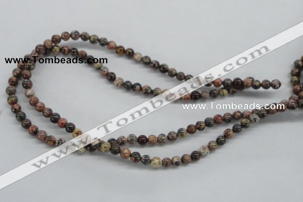 CLD02 15.5 inches 6mm round leopard skin jasper beads wholesale