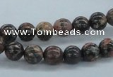 CLD03 15.5 inches 8mm round leopard skin jasper beads wholesale