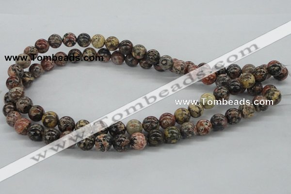 CLD04 15.5 inches 10mm round leopard skin jasper beads wholesale