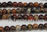 CLD10 15.5 inche 4mm round leopard skin jasper beads wholesale
