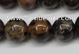 CLD16 15.5 inche 14mm round leopard skin jasper beads wholesale