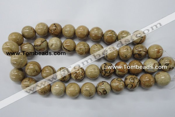 CLD51 15.5 inches 18mm round African leopard skin jasper beads