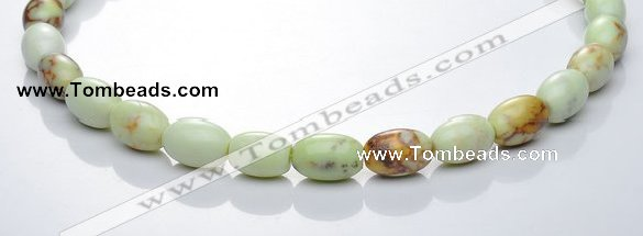 CLE02 16 inch 10*14mm rice lemon turquoise stone beads Wholesale