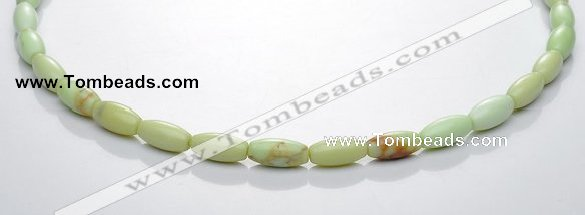 CLE05 16 inch 6*12mm lemon turquoise rice stone beads Wholesale