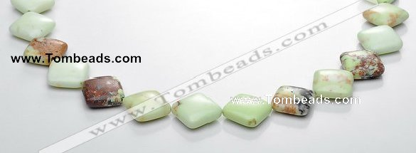 CLE13 15*15mm rhombic lemon turquoise gemstone beads Wholesale