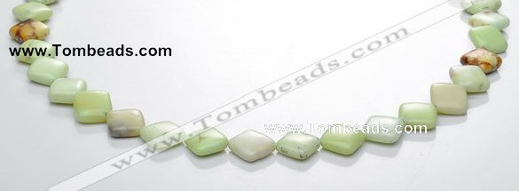 CLE14 rhombic 10*10mm lemon turquoise gemstone beads Wholesale