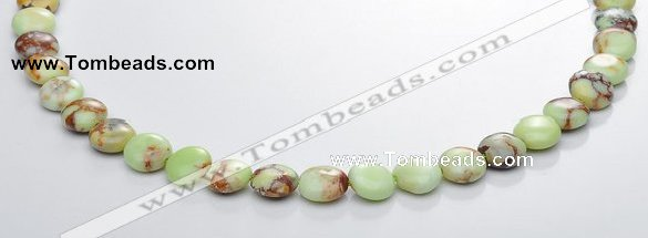 CLE18 flat round 10mm lemon turquoise gemstone beads Wholesale