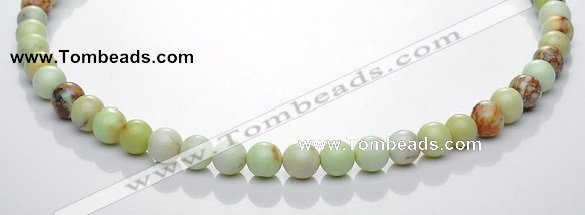 CLE19  15.5 inch round 8mm lemon turquoise stone beads Wholesale
