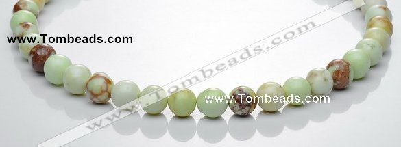 CLE20 16 inches 10mm round lemon turquoise stone beads Wholesale