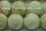 CLE205 15.5 inches 14mm round lemon turquoise beads wholesale