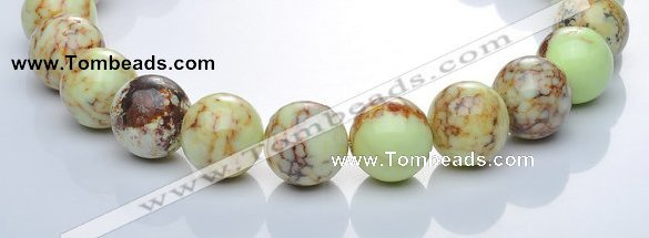 CLE23 lemon turquoise 20mm round gemstone beads Wholesale