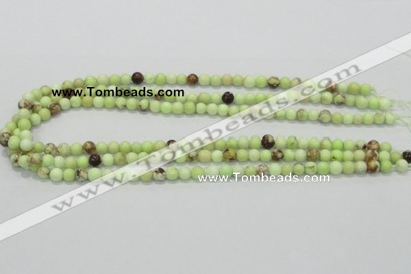 CLE31 15.5 inches 6mm round lemon turquoise beads wholesale
