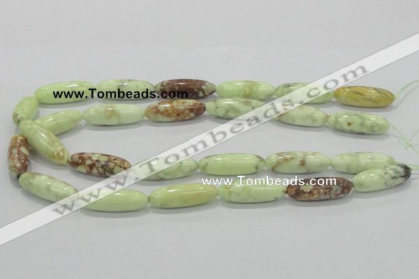 CLE36 15.5 inches 10*30mm rice lemon turquoise beads wholesale