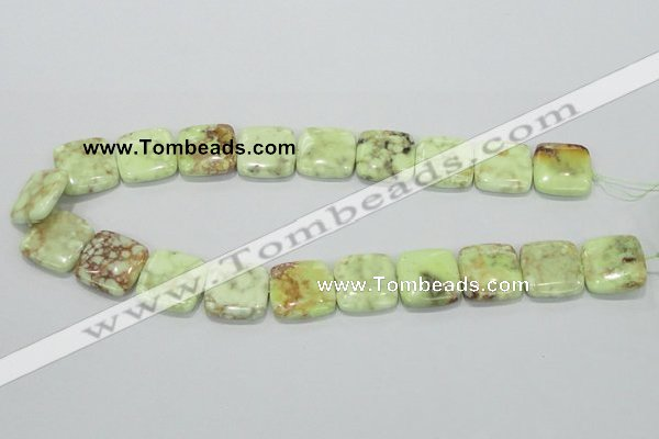 CLE39 15.5 inches 20*20mm square lemon turquoise beads wholesale
