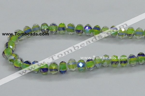 CLG38 14 inches 8*10mm faceted rondelle handmade lampwork beads