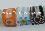 CLG512 16 inches 10*10mm cube lampwork glass beads wholesale