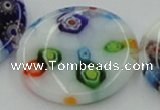 CLG520 16 inches 25mm flat round lampwork glass beads wholesale