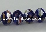 CLG61 15 inches 8*10mm faceted rondelle handmade lampwork beads