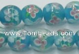 CLG755 15.5 inches 10mm round lampwork glass beads wholesale