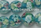 CLG763 15 inches 12mm round lampwork glass beads wholesale