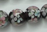CLG765 15 inches 12mm round lampwork glass beads wholesale