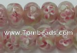 CLG771 14.5 inches 8*12mm rondelle lampwork glass beads wholesale
