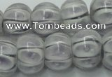 CLG776 14 inches 8*12mm rondelle lampwork glass beads wholesale