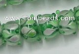 CLG778 14 inches 7*10mm rondelle lampwork glass beads wholesale