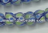 CLG781 14 inches 8*12mm rondelle lampwork glass beads wholesale