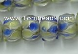CLG782 14 inches 8*12mm rondelle lampwork glass beads wholesale