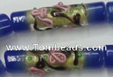 CLG787 15.5 inches 10*40mm cylinder lampwork glass beads wholesale