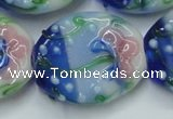 CLG802 15.5 inches 22*28mm oval lampwork glass beads wholesale