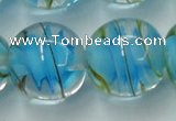CLG854 15.5 inches 18mm round lampwork glass beads wholesale