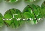 CLG855 15.5 inches 18mm round lampwork glass beads wholesale