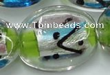 CLG861 15.5 inches 24*30mm oval lampwork glass beads wholesale