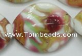 CLG862 15.5 inches 24*30mm marquise lampwork glass beads wholesale