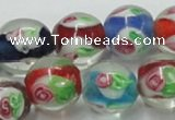 CLG876 15.5 inches 12mm round lampwork glass beads wholesale