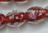 CLG879 15 inches 12*15mm oval lampwork glass beads wholesale