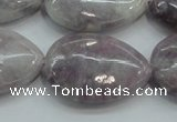 CLI61 15.5 inches 22*30mm teardrop natural lilac jasper beads wholesale