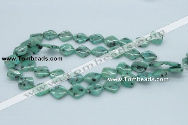 CLJ04 15.5 inches 16*16mm diamond sesame jasper beads wholesale