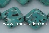 CLJ05 15.5 inches 20*20mm diamond sesame jasper beads wholesale