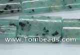 CLJ08 15.5 inches 22*32mm rectangle sesame jasper beads wholesale