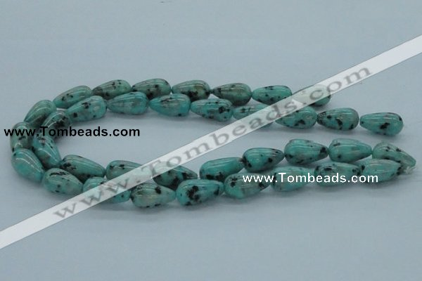 CLJ15 15.5 inches 12*22mm teardrop sesame jasper beads wholesale