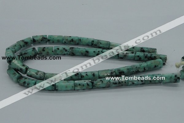 CLJ16 15.5 inches 10*20mm faceted column sesame jasper beads wholesale