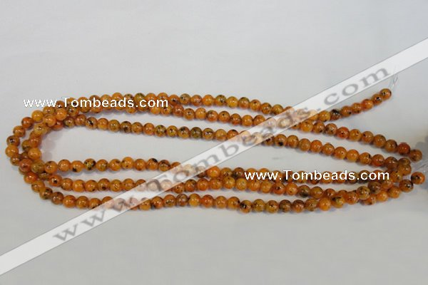 CLJ211 15.5 inches 6mm round dyed sesame jasper beads wholesale