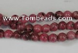 CLJ212 15.5 inches 6mm round dyed sesame jasper beads wholesale