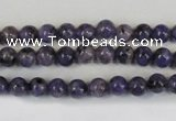 CLJ213 15.5 inches 6mm round dyed sesame jasper beads wholesale