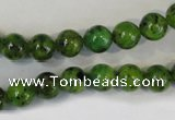 CLJ220 15.5 inches 8mm round dyed sesame jasper beads wholesale